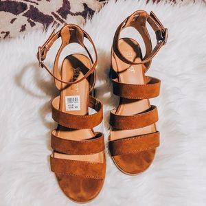 Brash Strappy Sandals, Size 8